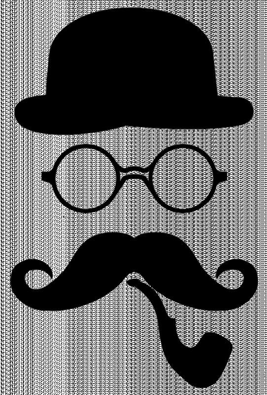 Dessin chapeau melon chapeau - Dessin de moustache ...